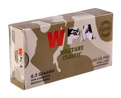 Wolf - Military Classic Ammo 6.5mm Grendel 100gr FMJ