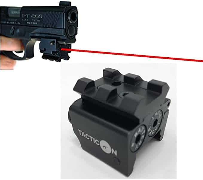 TACTICON Laser Sight, Picatinny Rail, Red Dot Laser Sight