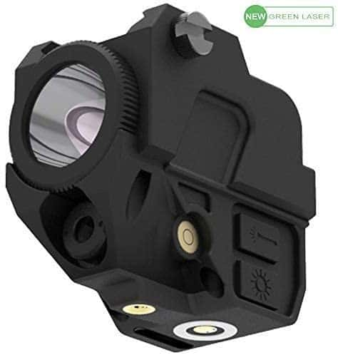 Laspur Tactical Sub Compact Rail Mount Laser Sight with High Lumen Flashlight