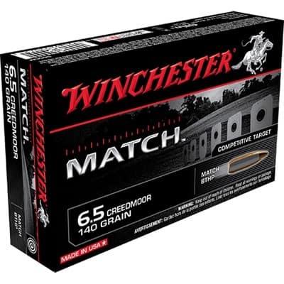 Winchester Match 6.5 Creedmoor 140-grain BTHP