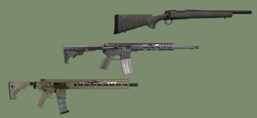 300 Blackout Rifle in green background