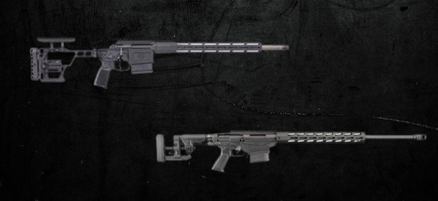 6.5 Creedmoor Rifle in black background