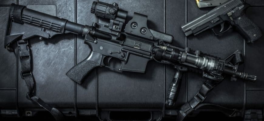 300 Blackout pistol in black background