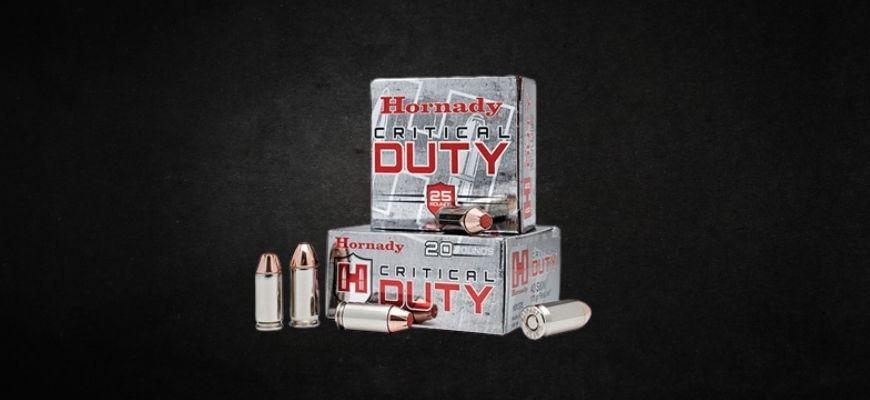 Hornady ammo in black background