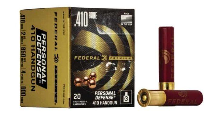 "FEDERAL - PREMIUM PERSONAL DEFENSE AMMO 410 BORE 2-1/2"" #000 SHOT"