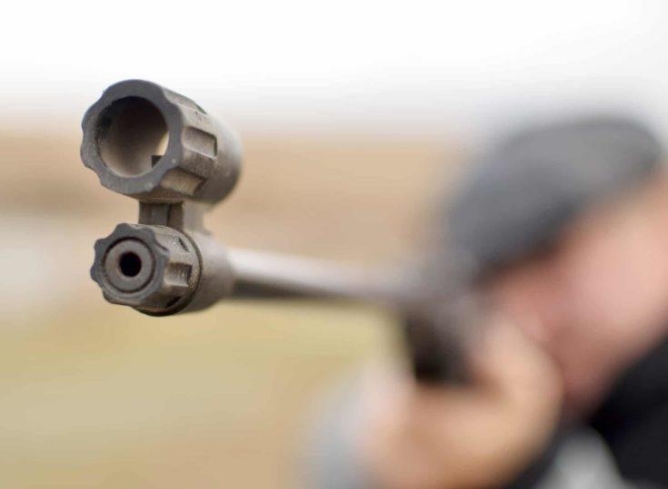 focus on the rifle barrel