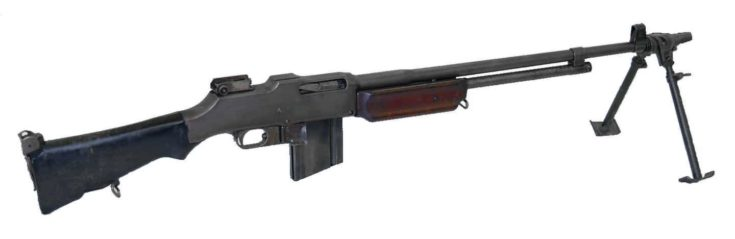 M1918 Browning Automatic Rifle isolated in a white bakground.