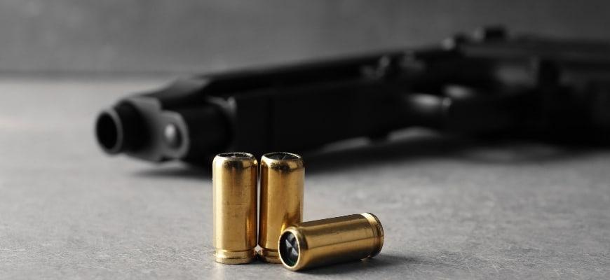 Bullets and black gun
