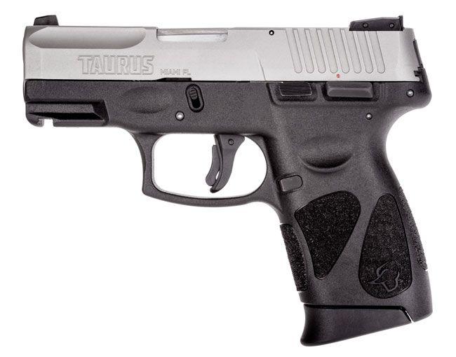 Taurus G2C 9mm Pistol, Black & Stainless Steel