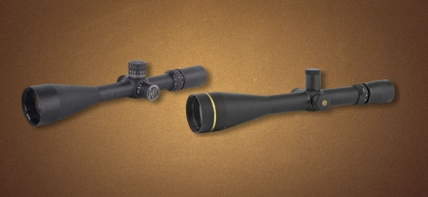 Scope for a 6.5 Creedmoor in brown background
