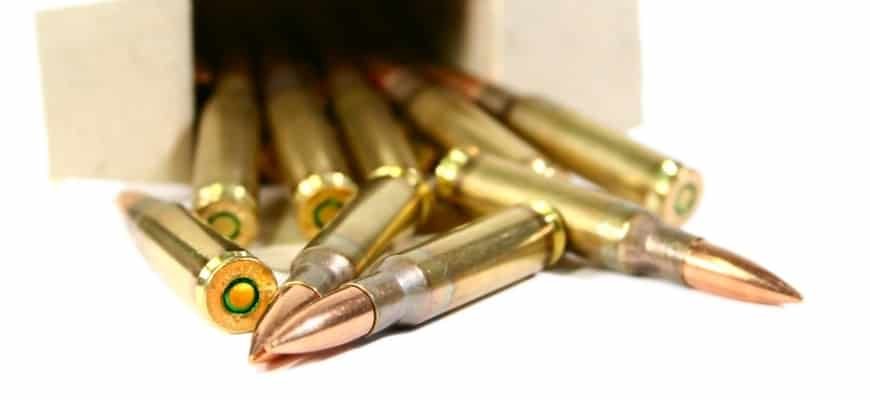 Bullets in an open box