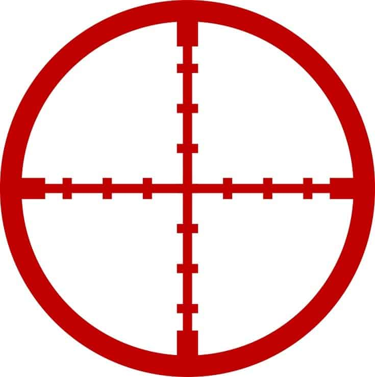 Reticle in red