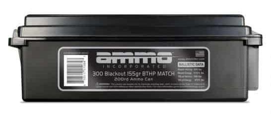 Ammo Inc 155 gr BTHP Match .300 Blackout Ammunition