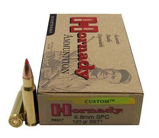 Hornady Custom 6.8mm Remington SPC 120 Grain Super Shock Tip Centerfire Rifle Ammunition 8347 Caliber