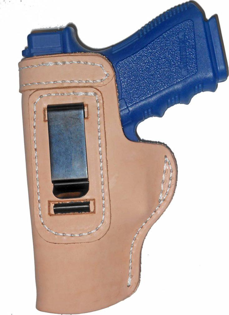 "Taurus PT1911 5"" Leather Gun Holster Pro Carry LT Left Hand IWB Natural"