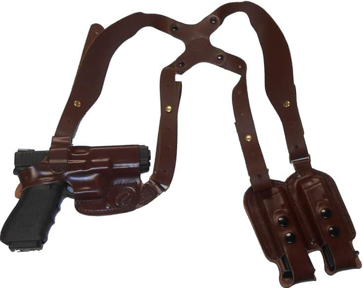 Taurus PT1911 Rails Leather Shoulder Gun Holster Horizontal RH Right Hand or LH Left Hand Black or Brown Concealed Carry