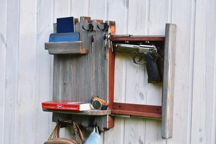 Hidden guns storage Secret compartment box Secret gun storage