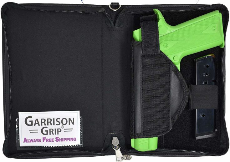 Garrison Grip Leather Good Book Style Gun Case for Carry