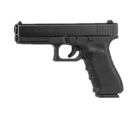 Glock 31 Gen 4 .357 Sig Pistol isolated in white background
