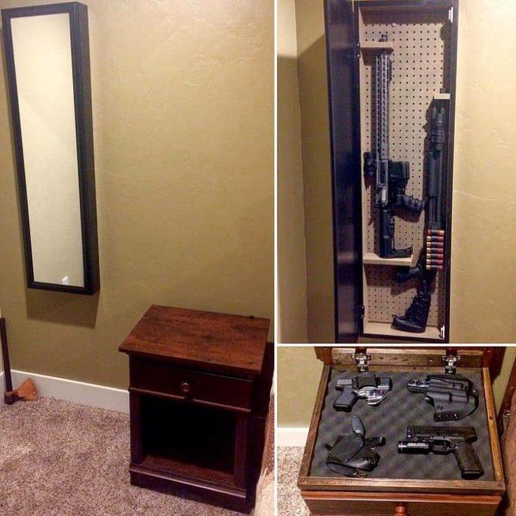 Nightstand gun Storage