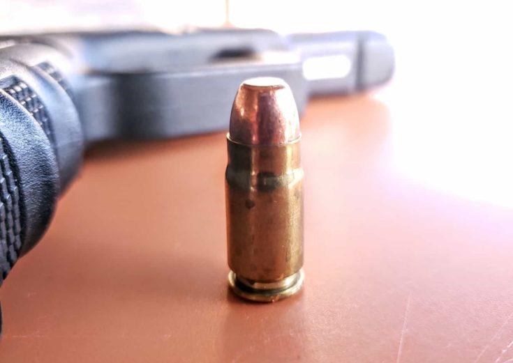 PG Glock 31 focus on bullet