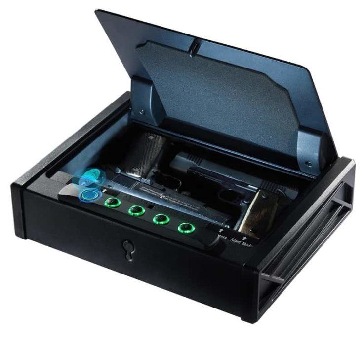 3-Quick Access Gun Safe, Fingerprint Digital Keypad Hardened Steel Frame