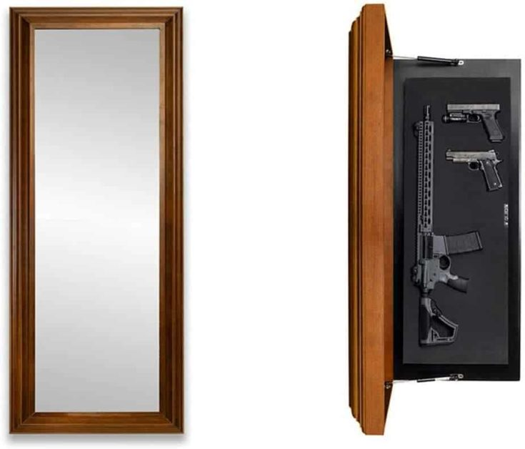 Tactical Traps Mirror MAX Gun Storage with Trap Door   Long-Barrel Gun, Rifle