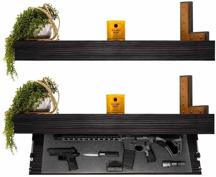 Tactical Traps Defender 45R Gun Shelf with Trap Door