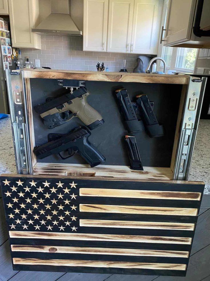 CUSTOM Secret Gun Safe Concealable Hidden Case