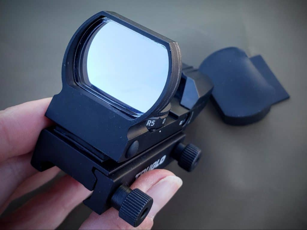 Close up of truglo red dot sight