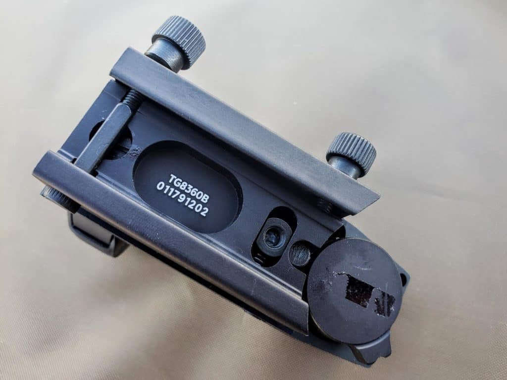 Close up picture of truglo mount