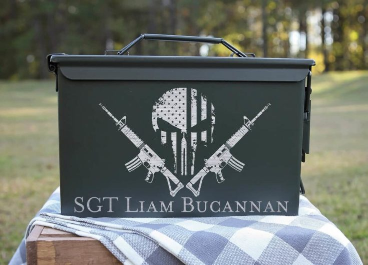 Engraved Steel Ammo Can