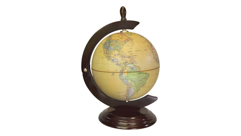 A globe with a hidden compartment