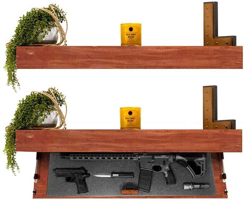 Floating Shelf with a hidden rifle