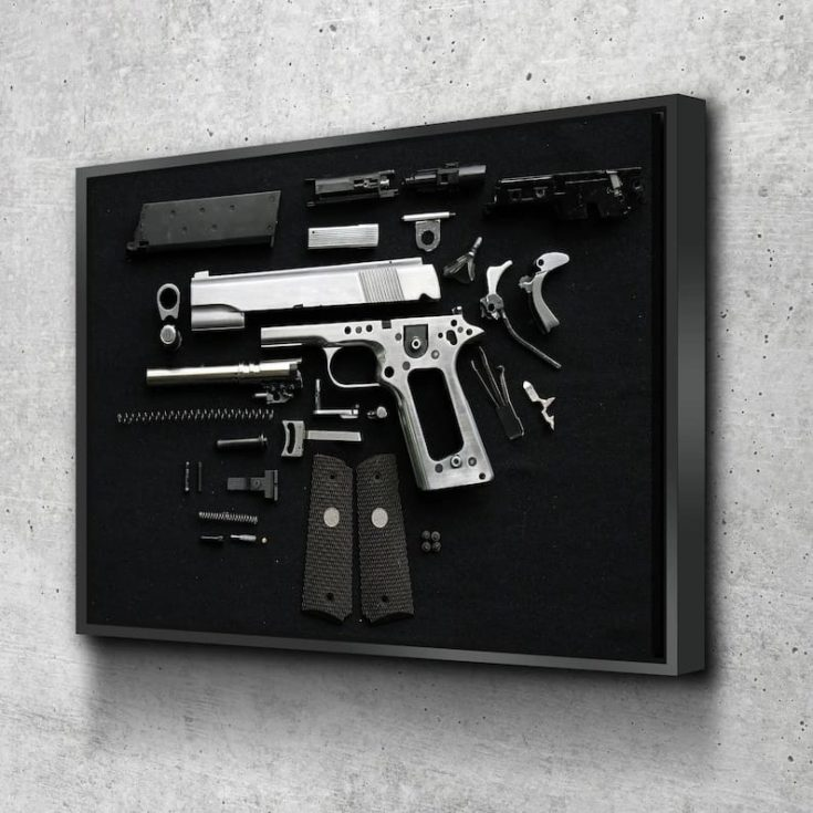 Gun Disassembly Canvas Set, Canvas Print, holiday gift Canvas