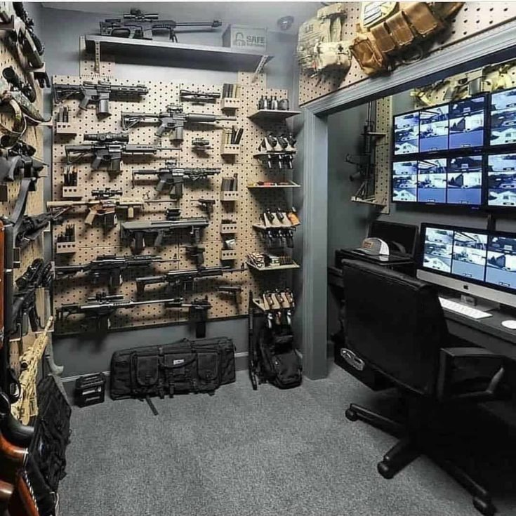 safe room with many guns