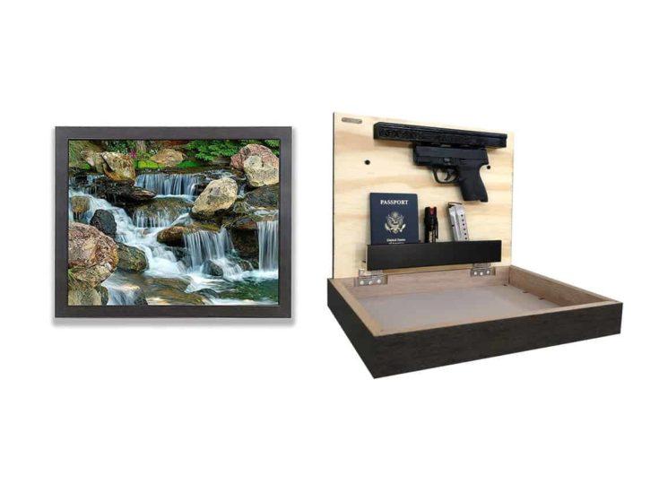 Picture frame with hidden gun and passport