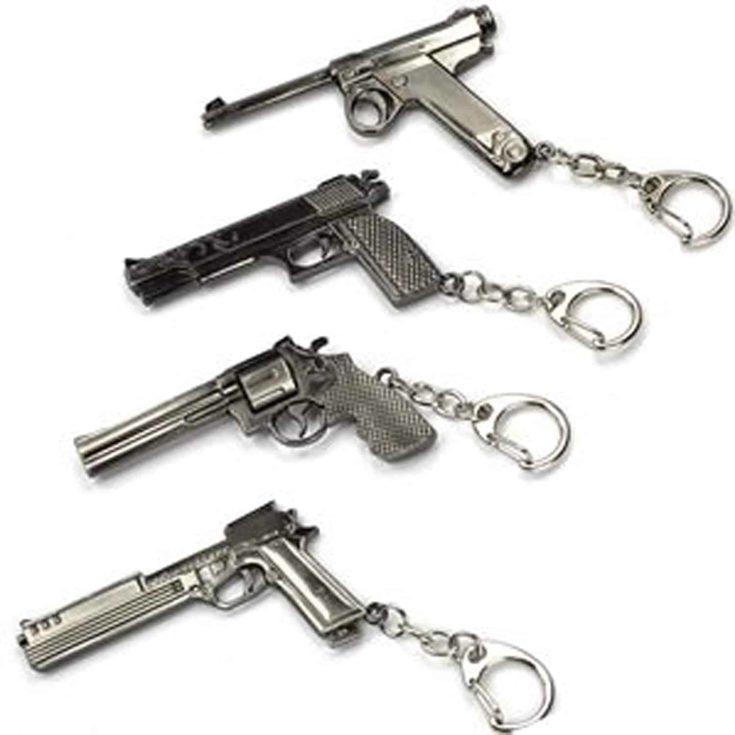 Mini Metal Shooting Gun Model Keychain