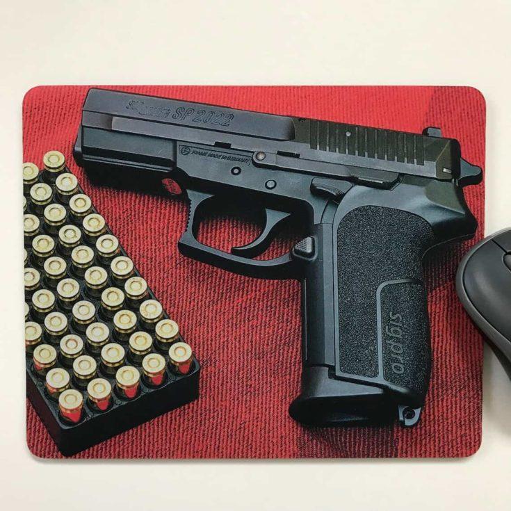 Mouse Pad,Mat,desktop laptop office Pistol handmade