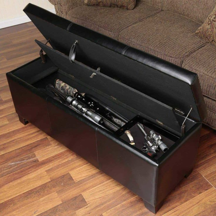 Mini couch with a hidden compartment