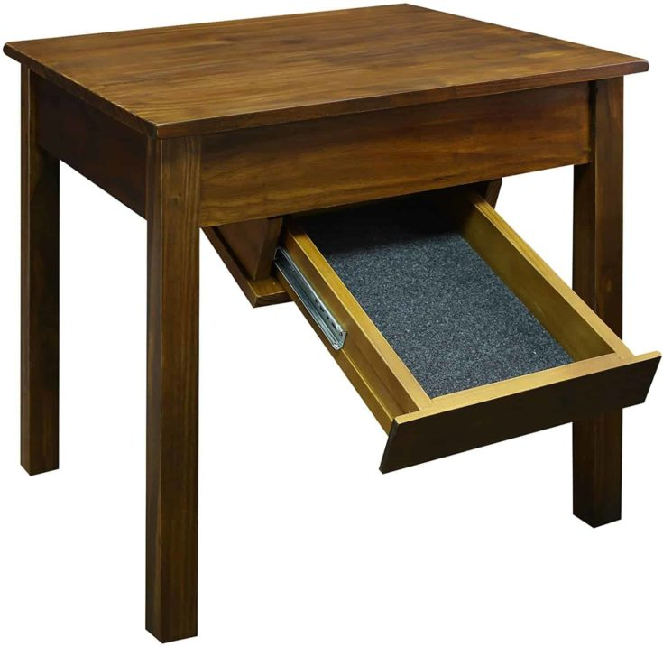 Table with a hidden compartment