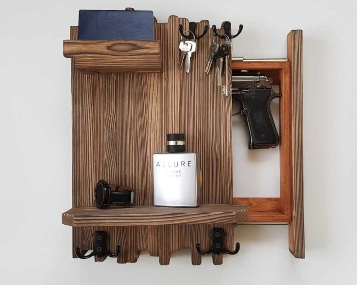 Wall mounted hidden storage