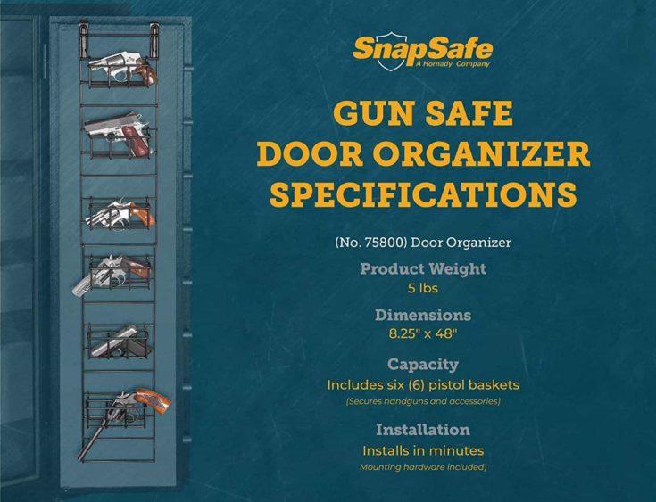 SnapSafe Gun Safe Door Organizer