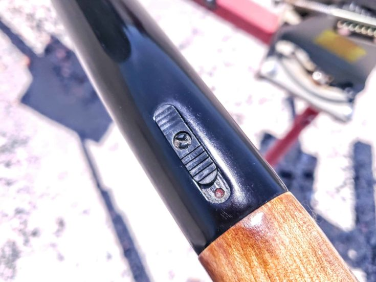 Top Mounted Safety of Mossberg