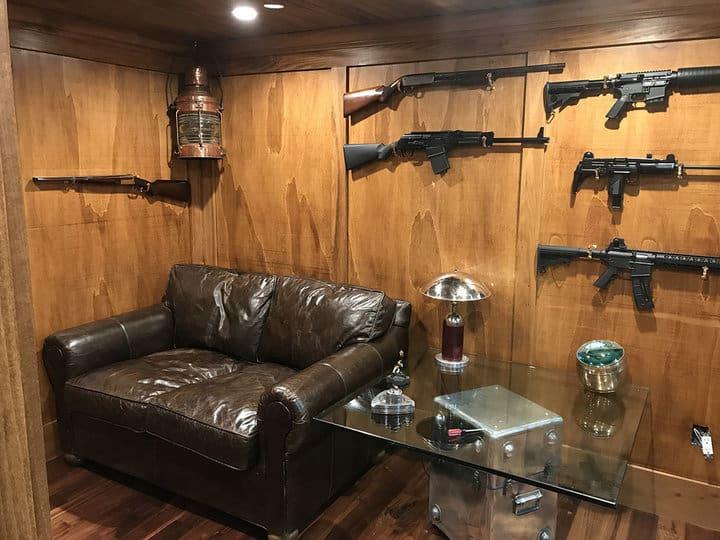 Covert Interiors created a secure gun room