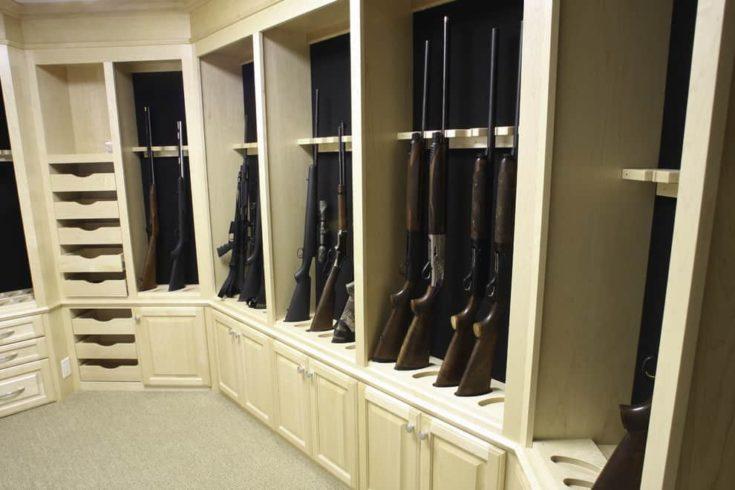 tuscan closet design with guns